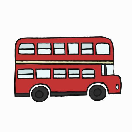Rojo autobús de dos pisos ilustración Foto de archivo - 104034417