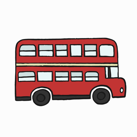 Red double-decker bus illustration