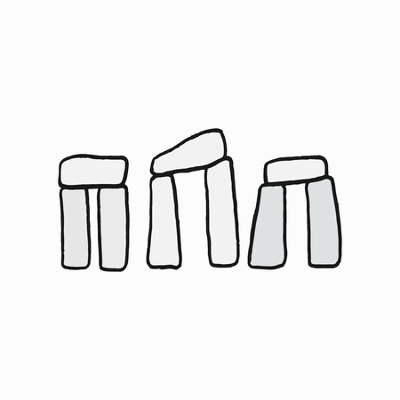 Stonehenge, British cultural icon illustration