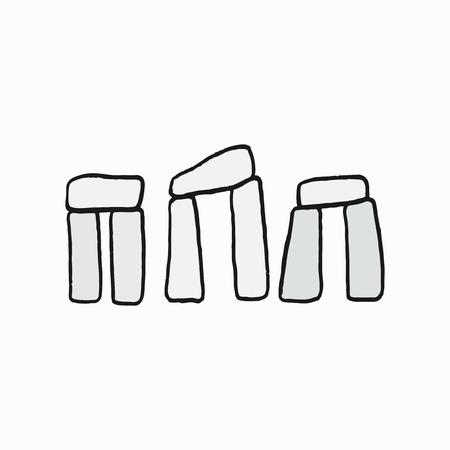 Stonehenge, British cultural icon illustration Imagens - 104034680