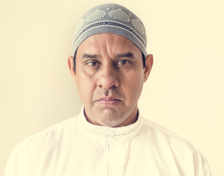 Portrait of a Muslim man Фото со стока