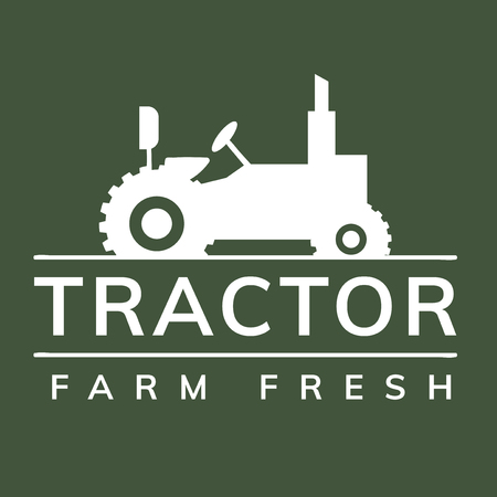 Tractor farm fresh logo illustration