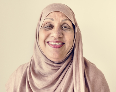 Portrait of a senior Muslim woman