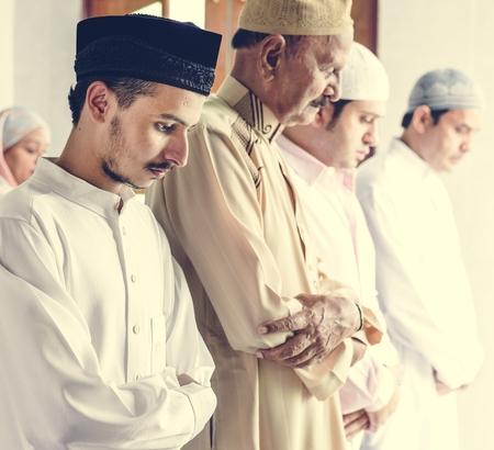 Muslim praying in Qiyaam posture Stock fotó