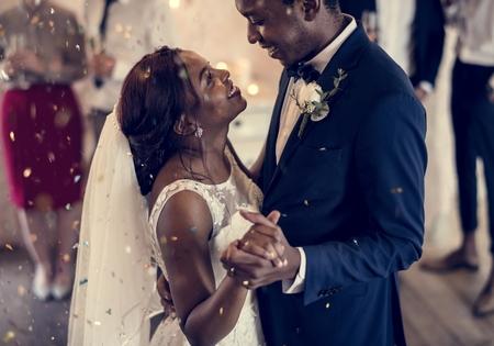 Hochzeitstag der Brücke und des Bräutigams