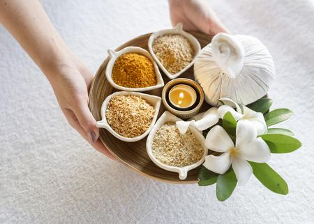 Massage herbs Stock Photo