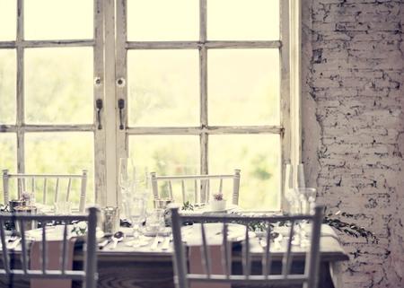 Wedding Reception Table Setting Reklamní fotografie