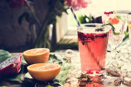 Fruit punch beverage freshness cocktail Reklamní fotografie