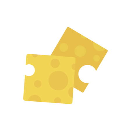 Slices of cheese graphic illustration Stock Photo
