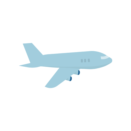 Flying airplane isolated graphic illustration