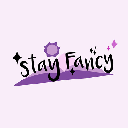 Stay fancy funky graphic illustration Фото со стока