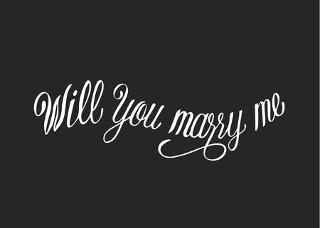 Will you marry me typography design Фото со стока - 105390547