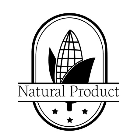 Corn natural product logo illustration Stock Photo