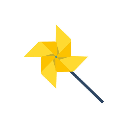 Yellow pinwheel graphic illustration Standard-Bild