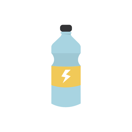 A bottle of energy drink graphic illustration Stock Photo