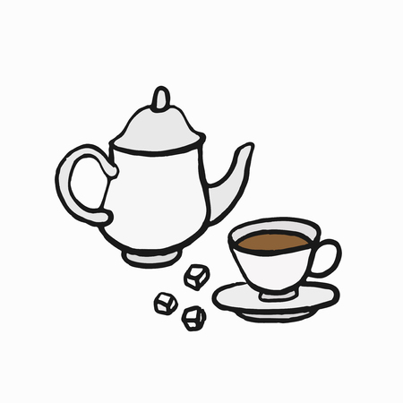 British-style tea culture illustration Stock Illustration - 105391159