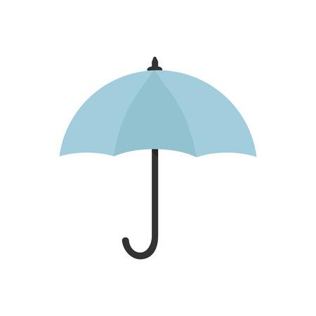 Blue umbrella icon isolated graphic illustration Banco de Imagens