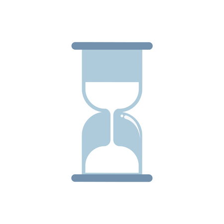 Blue hourglass isolated graphic illustration
