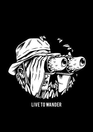 Live to wander creative illustration Imagens - 105391258