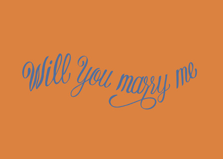 Will you marry me typography design