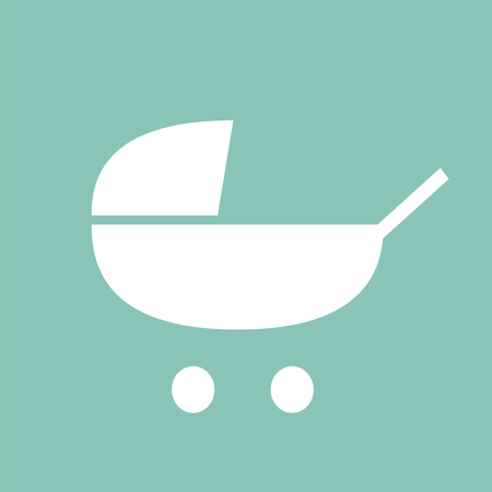 Baby stroller icon pictogram illustration 스톡 콘텐츠