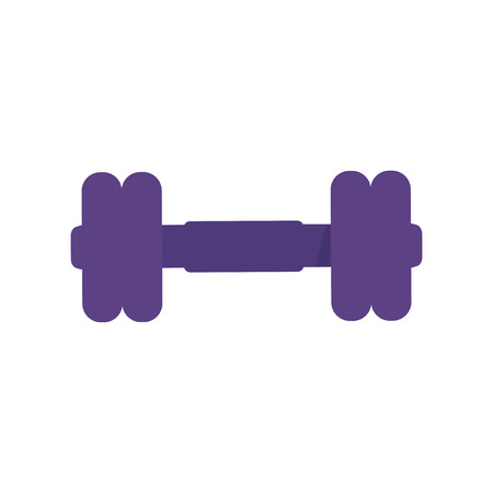 Purple barbell icon graphic illustration