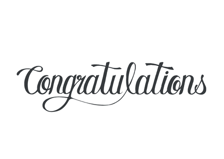 Congratulations word typography design illustration 免版税图像 - 105391283