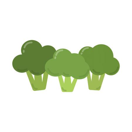 Healthy green broccoli graphic illustration