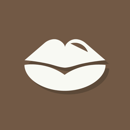 Kissing lips Valentines day icon