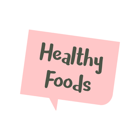 Speech bubble about Health Food graphic illustration