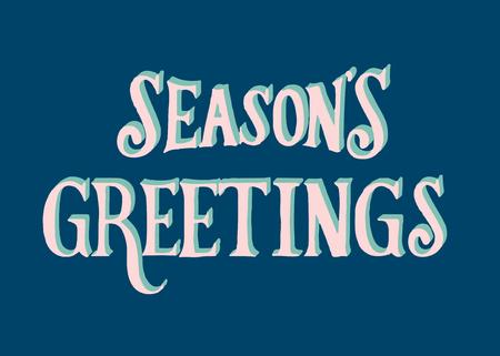 Illustration of Seasons Greetings typography