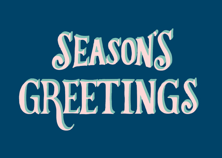 Illustration of Seasons Greetings typography