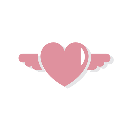 Heart shape Valentines day icon Stok Fotoğraf