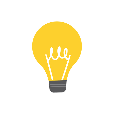 Light bulb icon graphic illustration Stock Photo
