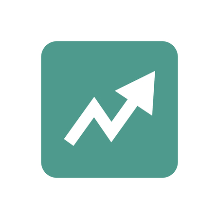 Upward arrow sign graphic illustration