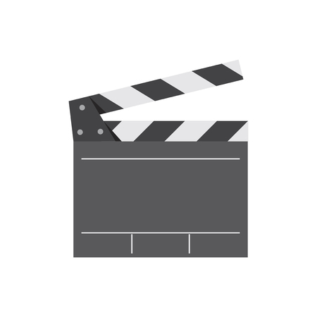 Movie director clapperboard graphic illustration Stockfoto