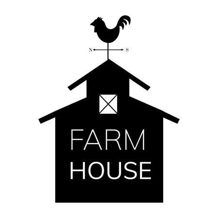 Farm house farming logo illustration