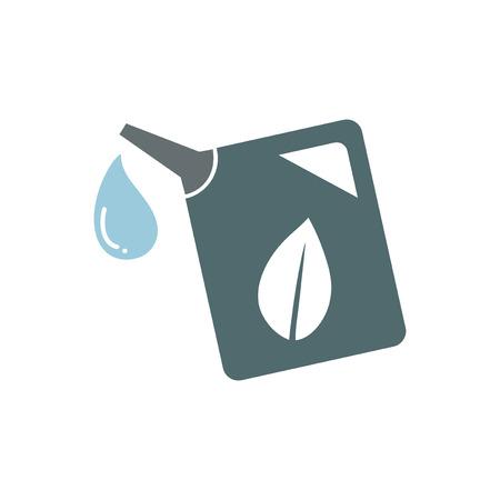 Green gas tank graphic illustration Stock fotó