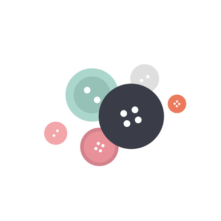 Mixed colorful buttons icon illustration