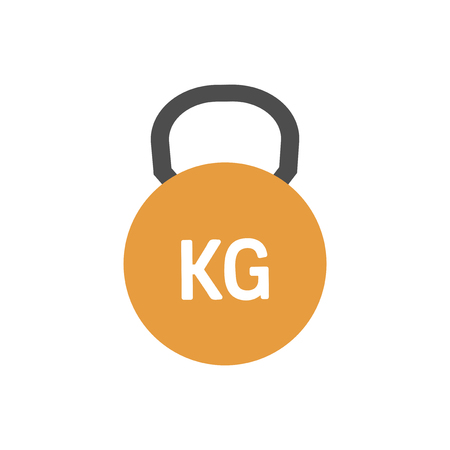 Orange kettlebell icon graphic illustration 写真素材