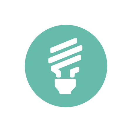 Light bulb on green circle graphic illustration