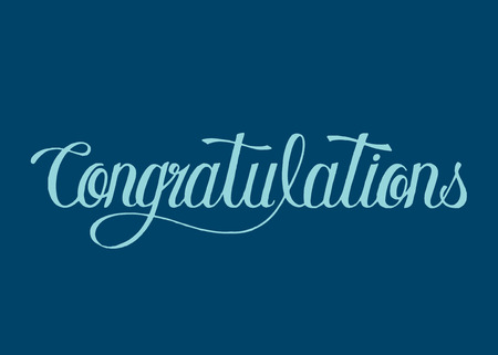 Congratulations word typography design illustration
