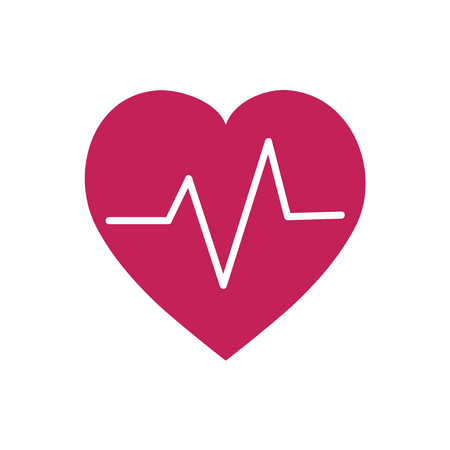 Red heartbeat symbol graphic illustration Banque d'images - 105391974