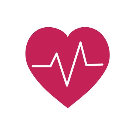 Red heartbeat symbol graphic illustration
