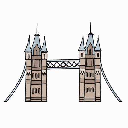 Tower Bridge the iconic symbol of London illustration Stock Photo
