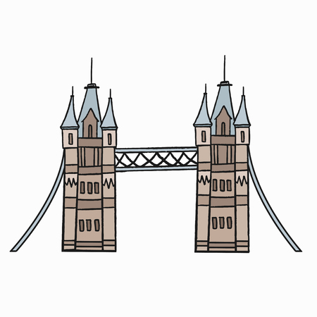 Tower Bridge the iconic symbol of London illustration Stock fotó