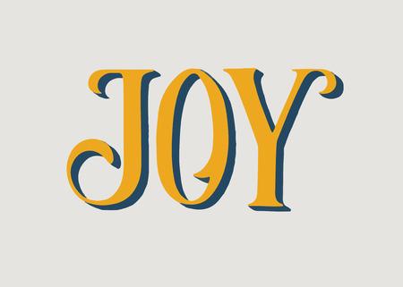 Illustration of the word Joy