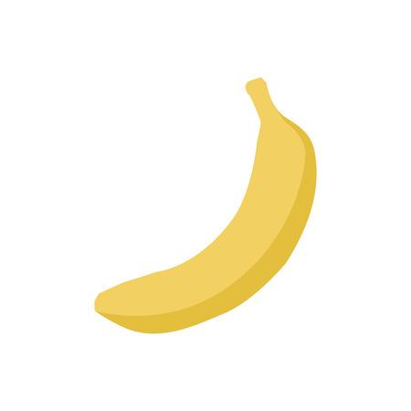 Single yellow banana graphic illustration