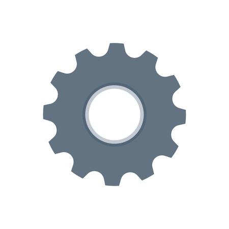 Cogwheel isolated icon graphic illustration Banco de Imagens