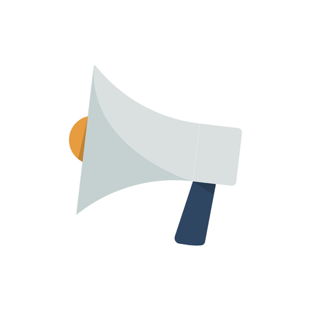 Silver megaphone isolated graphic illustration